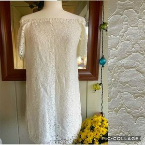 NWT 〰️Mustard Seed 〰️White Lace Off-Shoulder Dress